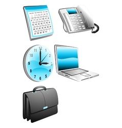 Office business calendar telefon watch laptop bag vector