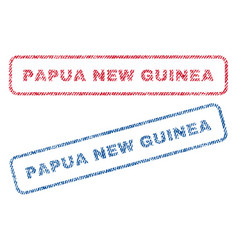 Papua new guinea textile stamps vector
