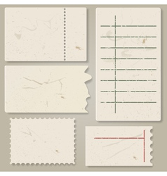 Pieces of old paper vector image vector image