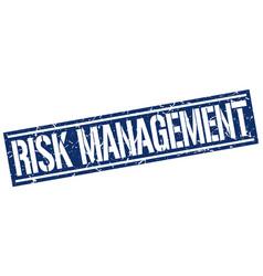 Risk management square grunge stamp vector