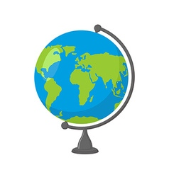 School Globe - model of Earth Model of celestial vector image vector image