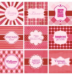Set of valentine day backgrounds vector