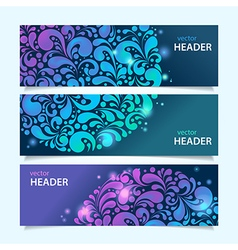 shiny glowing banners vector image vector image