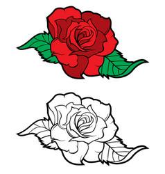 Tattoo rose vector