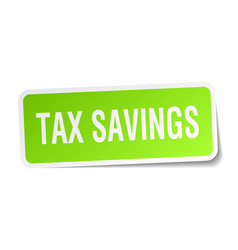 Tax savings square sticker on white vector