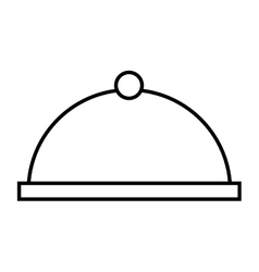 tray server dish isolated icon vector image vector image