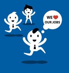 we love jobs vector image vector image