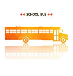 yellow school bus vector image vector image