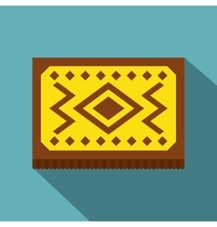 Yellow turkish carpet icon flat style vector