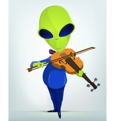 Cartoon alien violins vector