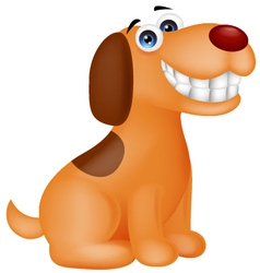 funny puppy cartoon vector image