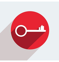 red circle icon on gray background Eps10 vector image