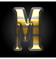 Silver and golden figure m vector