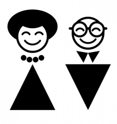 Cartoon man and woman vector