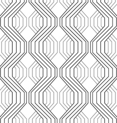 Gray ornament with striped braids vector