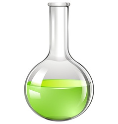 Green liquid in glass tube vector image