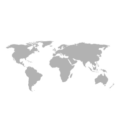 Gray world map on white background vector