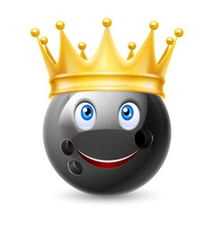 Golden crown on ball for bowling vector