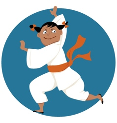 Kung fu girl vector image