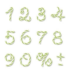 Bakers twine numbers vector image