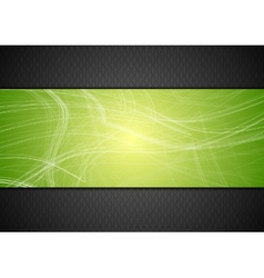 Abstract tech background with lines vector image vector image