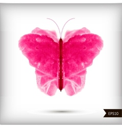 Abstract watercolor butterfly vector