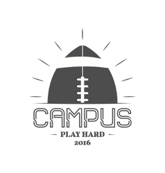 American football campus logotype emblem label vector image vector image