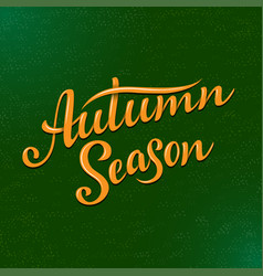 Autumn season lettering hand drawn composition vector
