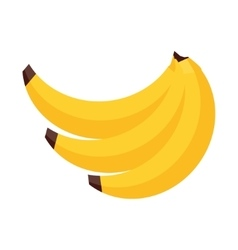 Banana in flat style vector image vector image