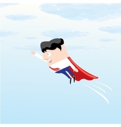 business man flying vector image