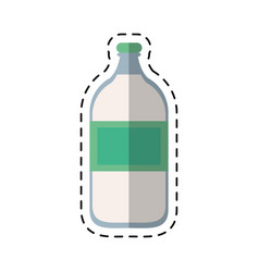 Cartoon mineral water bottle fresh vector