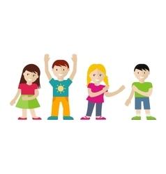 Children set in flat style vector