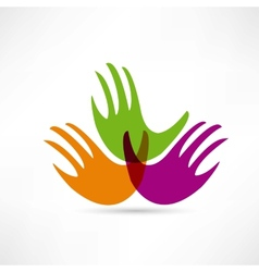 Creative handshake icon vector