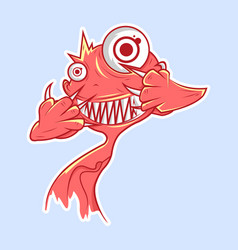 cute monster character vector image