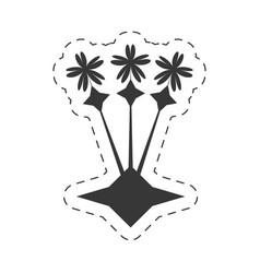 Decoration ornament flowers flora vector