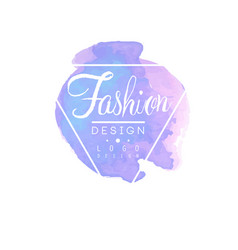Fashion logo design badge for clothes boutique or vector