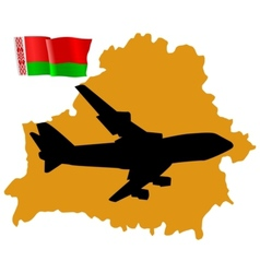 fly me to the Belarus vector image vector image