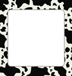 frame with abstract cow skin texture vector image vector image