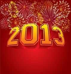 Happy new year 2013 vector image