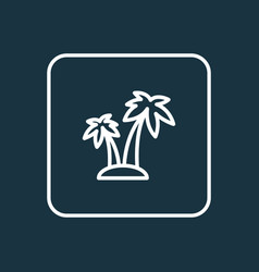 island outline symbol premium quality isolated vector image