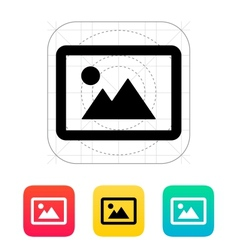 Landscape photo icon vector image