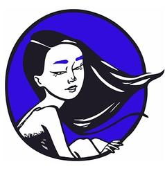 Moongirl vector image