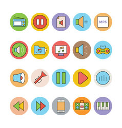 Music Colored Icons 2 vector image