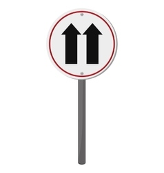 one way traffic sign icon vector image