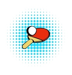 Racket for playing table tennis icon comics style vector image vector image