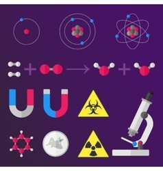 Science stuff signs vector image