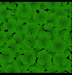 Seamless pattern with clover leaves vector