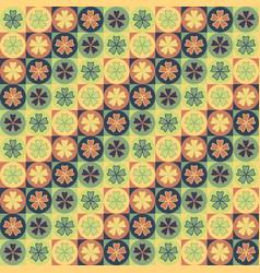 Seamless tile petal pattern vector