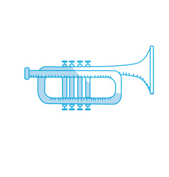 Silhouette tumpet musical instrument to play music vector