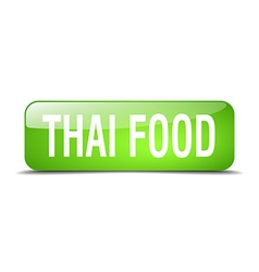 Thai food green square 3d realistic isolated web vector